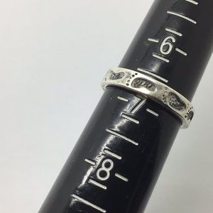 Sterling silver footprints stacking band ring